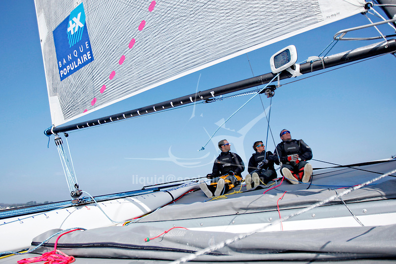 Onboard the Diam 24 Banque Populaire with Armel Le Cléac'h, Ronan Lucas, Fabien Delahaye. The Diam 24 is the new boat for the Tour de France à la Voile 2015.<br /> Diam 24 One Design, light, sporty, powerful, winged and designed to race with three or four people on board. The Diam 24OD is fast in light winds and confident in stronger breeze without the necessity for high level sporting prowess.