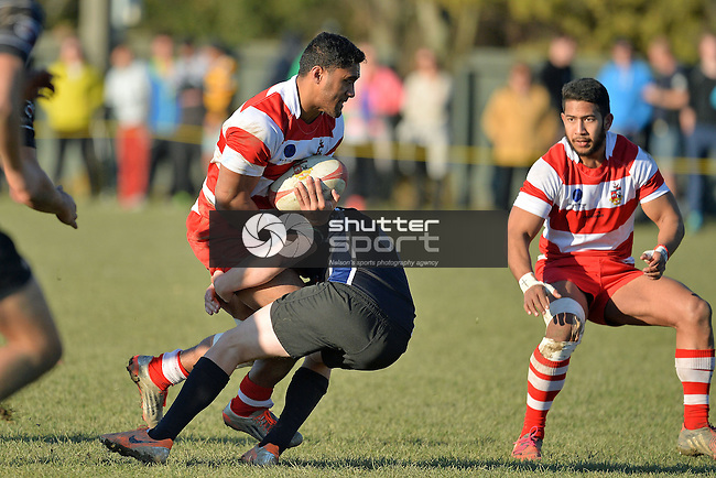 NELSON, NEW ZEALAND - July 11: Div 1 Semi Final Rugby WOB v Kahurangi at Jubilee Park in Richmond on 11 July 2015, Nelson, New Zealand. (Photo by Barry Whitnall/Shuttersport Limited)