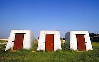 Kansas concrete tornado shelters, shelter; NR. Kansas.