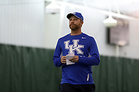WINSTON-SALEM, NC - JANUARY 24: Head coach Cedric Kauffman of the University of Kentucky during a game between Kentucky and Penn State at Wake Forest Indoor Tennis Center on January 24, 2020 in Winston-Salem, North Carolina.