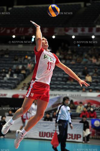 Czarnowski Patryk (POL),..DECEMBER 4,2011 - Volleyball : FIVB Men's Volleyball World Cup 2011,4th Round Tokyo(A) during match between Poland 2-3 Russia at 1st Yoyogi Gymnasium, Tokyo, Japan. (Photo by Jun Tsukida/AFLO SPORT) [0003]