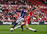 John Fleck of Sheffield Utd  has a shot on goal during the Championship match at the Riverside Stadium, Middlesbrough. Picture date: August 12th 2017. Picture credit should read: Simon Bellis/Sportimage