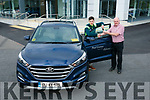 Noel O Connor of Adams Garage Tralee, Handing over Keys to Paul Geaney on Thursday