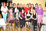 Philomena Leane, Lislibane, Beaufort, pictured with Melissa Doody, Patricia Flynn, Chloe Fitzgerald, Ella McGrath, Anna Foley, Barbara O'Leary, Sinead Leane, Julie O'Sullivan, Mary Hayes, Eileen Twiss, Barbara Doody, Josephine O'Dowd, Eileen Roche, Maureen Fleming, Breda Fleming, Barbara Doody and Marie Doody as she celebrated her hen party in the Inn Between Bar, Beaufort on Saturday night. ................................................