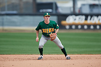 Siena Saints second baseman Eric Havner (9) during a game against the UCF Knights on February 17, 2019 at John Euliano Park in Orlando, Florida.  UCF defeated Siena 7-1.  (Mike Janes/Four Seam Images)