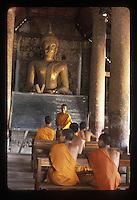 Monks in class, Wat Pha Phutthabaht
