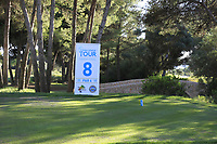 The 8th tee during the Pro-Am of the Challenge Tour Grand Final 2019 at Club de Golf Alcanada, Port d'Alcúdia, Mallorca, Spain on Wednesday 6th November 2019.<br /> Picture:  Thos Caffrey / Golffile<br /> <br /> All photo usage must carry mandatory copyright credit (© Golffile | Thos Caffrey)