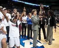 SPOKANE, WA - MARCH 28, 2011: Head Coach Tara VanDerveer, Stanford Women's Basketball vs Gonzaga, NCAA West Regional Finals at the Spokane Arena on March 28, 2011.
