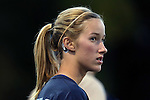 23 October 2014: North Carolina's Cameron Castleberry wears an X2 BioSystems sensor behind her ear to track possible concussion impacts. The University of North Carolina Tar Heels hosted the Florida State University Seminoles at Fetzer Field in Chapel Hill, NC in a 2014 NCAA Division I Women's Soccer match. The game ended in a 1-1 tie after double overtime.