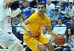 February 4, 2017:  Wyoming guard, Justin James #1, in action during the NCAA basketball game between the Wyoming Cowboys and the Air Force Academy Falcons, Clune Arena, U.S. Air Force Academy, Colorado Springs, Colorado.  Wyoming defeats Air Force 83-74.