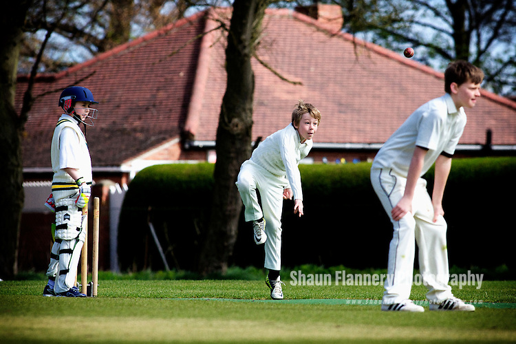 Pix: Shaun Flannery/shaunflanneryphotography.com...COPYRIGHT PICTURE&gt;&gt;SHAUN FLANNERY&gt;01302-570814&gt;&gt;07778315553&gt;&gt;..28th April 2013..Cricket - Sprotbrough v Doncaster Town U11's.<br /> Sprotbrough Cricket Club.
