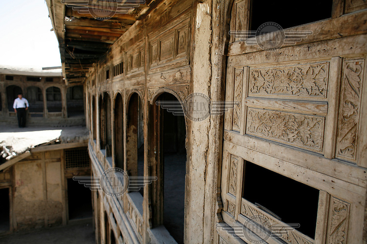 Decorated exterior of the Great Serai, facing the courtyard.Turquoise Mountain Foundation is working to preserve Afghanistan's traditional crafts and historical buildings. In Kabul, work has started in the historic Murad Khane part of Kabul, and is largely completed in the royal Kart-e-Parwan fort.
