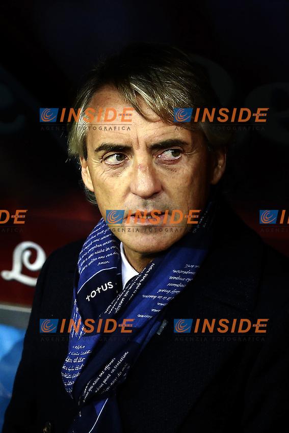 delusione di Roberto Mancini Inter, dejection  <br /> Napoli 30-11-2015 Stadio San Paolo <br /> Football Calcio Serie A 2015/2016 Napoli - Inter<br /> Foto Cesare Purini / Insidefoto