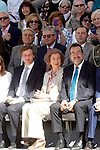 Queen Sofia of Spain (c), Antonio González Terol Mayor of Bohadila del Monte (l) and ONCE's President Miguel Carballeda attend the 25th anniversary of 'Perro Guia ONCE's Foundation'. September 24, 2015.(ALTERPHOTOS/Acero)