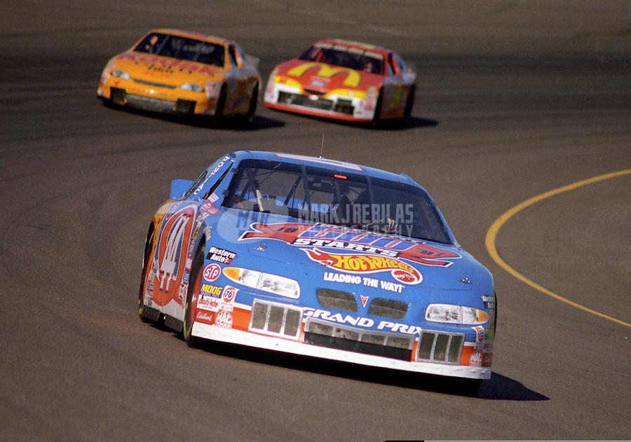 Nov. 1, 1997; Avondale, AZ, USA; NASCAR Winston Cup Series driver Kyle Petty during the Dura Lube 500 at Phoenix International Raceway. Mandatory Credit: Mark J. Rebilas-