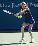 Agnieszka Radwanska (POL) loses to Caroline Wozniacki (DEN)  6-4, 7-6(5) at the Western & Southern Open in Mason, OH on August 15, 2014.