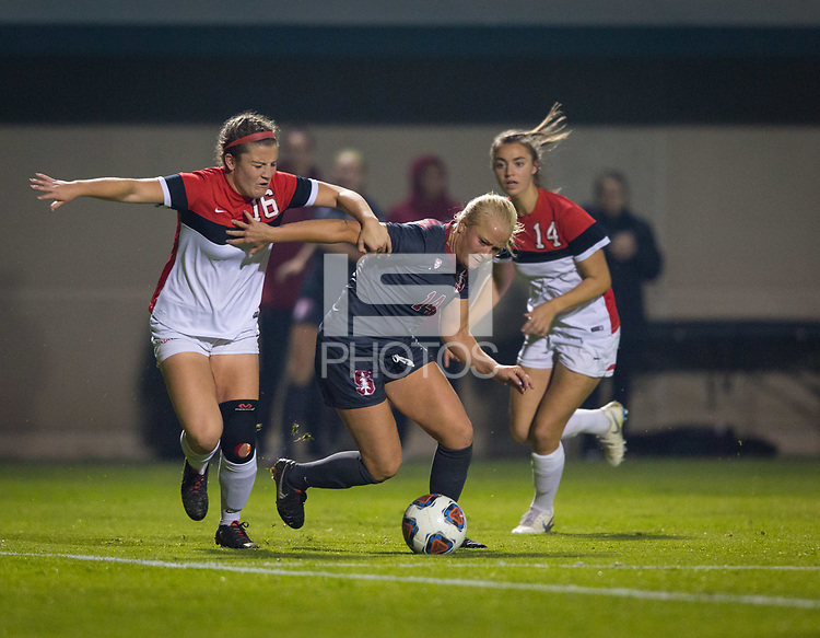 STANFORD, CA - November 9, 2018: Civana Kuhlmann at Laird Q. Cagan Stadium. The top seeded Stanford Cardinal defeated the Seattle Redhawks 3-0 in the opening round of the NCAA tournament.