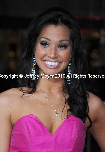 """HOLLYWOOD, CA. - February 08: Melissa Rycroft arrive at the """"Valentine's Day"""" Los Angeles Premiere at Grauman's Chinese Theatre on February 8, 2010 in Hollywood, California."""