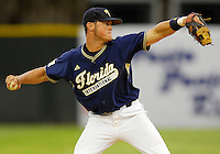 The Florida International University Golden Panthers (16-15, 3-6 Sun Belt) versus the University of Miami (17-13, 5-7 ACC) at Mark Light Field, Coral Gables, Florida on Wednesday, April 4, 2007...Freshman infielder Manuel Arrojo (13)