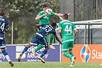 11.01.2019, Bidvest Stadion, Braampark, Johannesburg, RSA, FSP, SV Werder Bremen (GER) vs Bidvest Wits FC (ZA)<br /> <br /> im Bild / picture shows <br /> Reeve Peter Frosler (Bidvest Wits FC #33) im Duell / im Zweikampf mit Marco Friedl (Werder Bremen #32), Philipp Bargfrede (Werder Bremen #44), <br /> <br /> Foto © nordphoto / Ewert