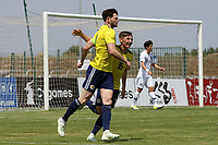 Oliver Burke celebrates scoring Scotland's second goal with Billy Gilmore during South Korea Under-21 vs Scotland Under-21, Tournoi Maurice Revello Football at Stade Parsemain on 2nd June 2018