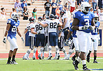30 September 2006: Virginia players celebrate a first quarter touchdown. The Duke University Blue Devils lost 37-0 to the University of Virginia Cavaliers at Wallace Wade Stadium in Durham, North Carolina in an Atlantic Coast Conference NCAA Division I College Football game.