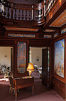 Europe/France/Aquitaine/33/Gironde/Bassin d'Arcachon/Arcachon: La ville d'hiver - La villa Theresa - - Détail de l'intérieur du hall d'entrée