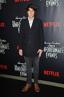 www.acepixs.com<br /> January 11, 2017  New York City<br /> <br /> Matty Cardarople attending Netflix&rsquo;s world premiere of Lemony Snicket&rsquo;s 'A Series of Unfortunate Events' at AMC Lincoln Square on January 11, 2017 in New York City.<br /> <br /> <br /> Credit: Kristin Callahan/ACE Pictures<br /> <br /> <br /> Tel: 646 769 0430<br /> Email: info@acepixs.com