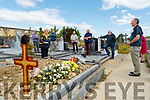 Friends of the late Des Hurley gathered at his graveside at Rathass on Friday as they couldnt pay their respects at his funeral, Simon Foley, Adrienne McLoughlin, Tom Baker, Eddie Barrett, Martin Collins,Tadgh McMahon, Paddy Kissane and Mairead Fernane and Billy<br /> Ryle, pictured on Friday last.