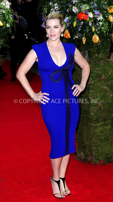 WWW.ACEPIXS.COM<br /> <br /> April 13 2015, London<br /> <br /> Kate Winslet arriving at the UK premiere of 'A Little Chaos' at the Odeon Kensington on April 13 2015 in London <br /> <br /> By Line: Famous/ACE Pictures<br /> <br /> <br /> ACE Pictures, Inc.<br /> tel: 646 769 0430<br /> Email: info@acepixs.com<br /> www.acepixs.com