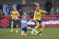 Kayleigh Green of Brighton and Jill Roord of Arsenal during Brighton & Hove Albion Women vs Arsenal Women, Barclays FA Women's Super League Football at Broadfield Stadium on 12th January 2020