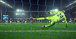Riyad Mahrez of Leicester City scores his goal to make it 2-1 past Everton goalkeeper Tim Howard<br /> - Barclays Premier League - Everton vs Leicester City - Goodison Park - Liverpool - England - 19th December 2015 - Pic Robin Parker/Sportimage