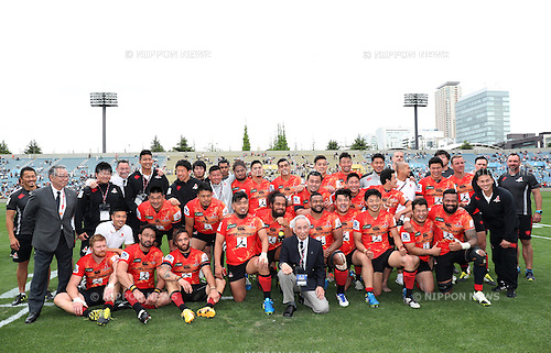 Sunwolves Team Group,<br /> APRIL 23, 2016 - Rugby : Super Rugby match between Sunwolves 36-28 Jaguares at Prince Chichibu Memorial Stadium in Tokyo, Japan. (Photo by AFLO SPORT)
