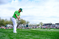 Justin Thomas (USA) on the 9th fairway during the 3rd round of the Waste Management Phoenix Open, TPC Scottsdale, Scottsdale, Arisona, USA. 02/02/2019.<br /> Picture Fran Caffrey / Golffile.ie<br /> <br /> All photo usage must carry mandatory copyright credit (© Golffile | Fran Caffrey)