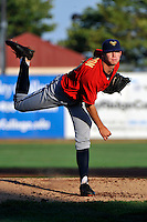 State College Spikes pitcher Tyler Waldron (55) during game against the Brooklyn Cyclones at MCU Park in Brooklyn, NY July 8, 2010.  Photo By Tomasso DeRosa/Four Seam Images