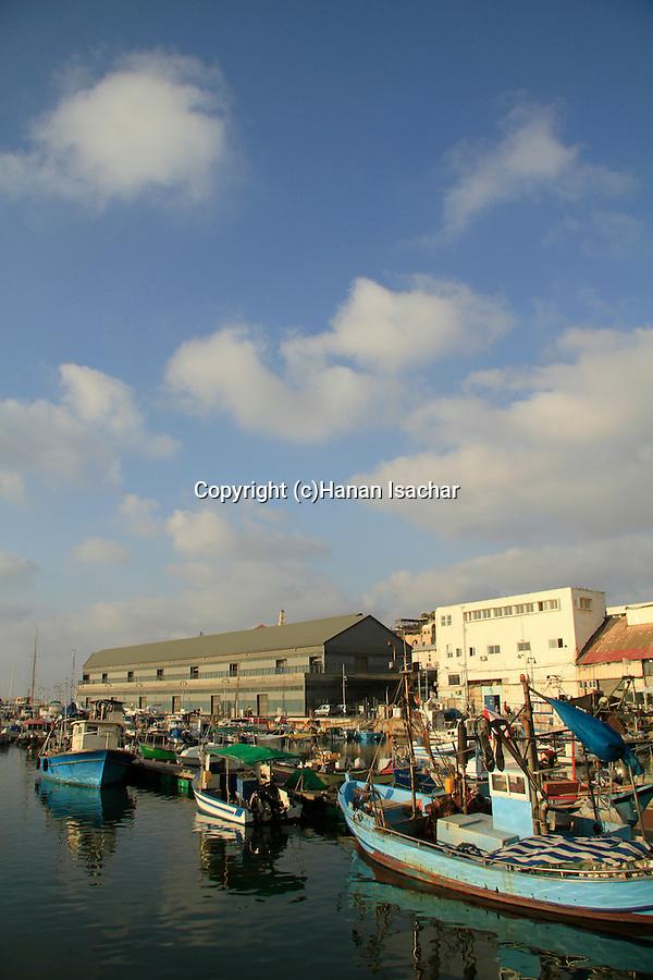 Israel, fishing boats in Jaffa's port