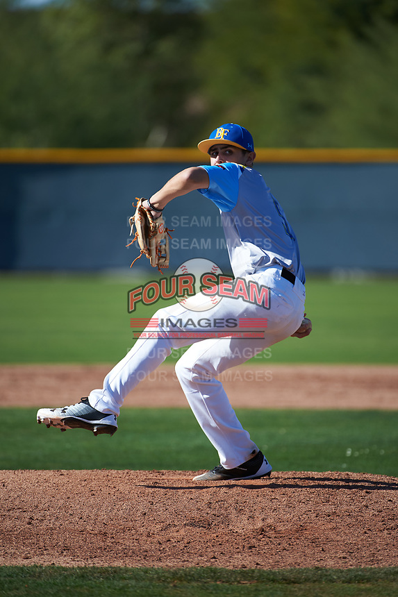 Kyle Anderson (5) of Etiwanda High School in San Bernardino, California during the Baseball Factory All-America Pre-Season Tournament, powered by Under Armour, on January 13, 2018 at Sloan Park Complex in Mesa, Arizona.  (Art Foxall/Four Seam Images)