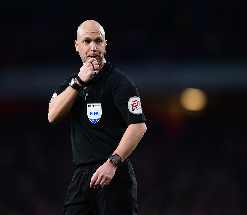 Referee Anthony Taylor<br /> <br /> Photographer Chris Vaughan/CameraSport<br /> <br /> The Emirates FA Cup Quarter-Final - Arsenal v Lincoln City - Saturday 11th March 2017 - The Emirates - London<br />  <br /> World Copyright &copy; 2017 CameraSport. All rights reserved. 43 Linden Ave. Countesthorpe. Leicester. England. LE8 5PG - Tel: +44 (0) 116 277 4147 - admin@camerasport.com - www.camerasport.com