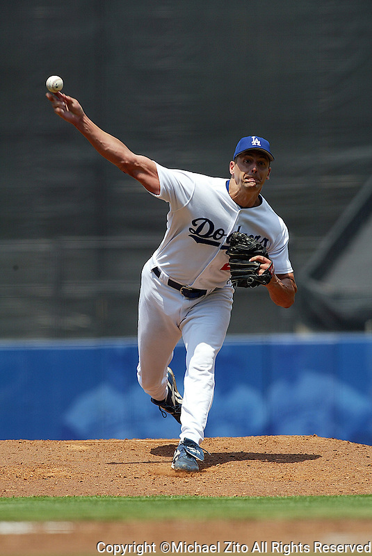 Kevin Brown In a MLB game played at Dodger Stadium where the St. Louis Cardinals beat the Los Angeles Dodgers 3-1