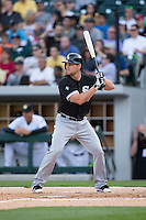 Connor Gillaspie (12) of the Chicago White Sox at bat against the Charlotte Knights at BB&T Ballpark on April 3, 2015 in Charlotte, North Carolina.  The Knights defeated the White Sox 10-2.  (Brian Westerholt/Four Seam Images)