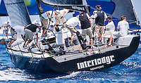 IBIZA, SPAIN - 1 JUL:  Interlodge in action during preview day of Royal Cup at Marina Ibiza on July 01st 2013 in Ibiza, Spain. Photo by Xaume Olleros / 52 Super Series