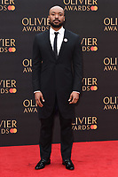 Arinze Kene<br /> arriving for the Olivier Awards 2019 at the Royal Albert Hall, London<br /> <br /> ©Ash Knotek  D3492  07/04/2019