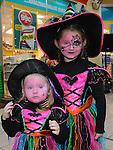 Karina and Enrika Lygmalytes at the Halloween celebrations at Drogheda Town Centre. Photo:Colin Bell/pressphotos.ie