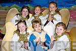 ANGELS: Angels from Glenderry National School Ballyheigue, on Friday who stared in the school Nativity Christmas Play (Scarecrow Christmas) were front l-r: Erica Lucid, Sarah Darvern and Laura Reidy. Back l-r: Shauna Casey, Clodagh Donnelly and Ria Dunne.   Copyright Kerry's Eye 2008