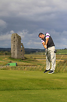 Thomas Fay (Rush) on the 13th tee during Round 2 of The South of Ireland in Lahinch Golf Club on Sunday 27th July 2014.<br /> Picture:  Thos Caffrey / www.golffile.ie