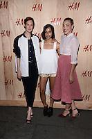NEW YORK, NY - JUNE 19:Taylor Tomasi Hill, Zoe Kravitz ,Mia Moretti pictured at the  H&M Summer Camp Kickoff Party Café de la Esquina on June 19, 2014 in Brooklyn,New York .HP/Starlitepics