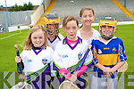 Learning new skills at the GAA hurling Cu?l Camp at Fitzgerald Stadium last week was: .Back L-R Ca?emnat Moore and Kerri Moloney .Front L-R Katie Ring, Elizabeth McGuire and Maeve Tagney.