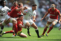 Ben Youngs of England escapes the clutches of Alun Wyn Jones of Wales during the Old Mutual Wealth Cup match between England and Wales at Twickenham Stadium on Sunday 29th May 2016 (Photo: Rob Munro/Stewart Communications)