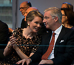 Le Roi Philippe et la Reine Mathilde assistent au &quot;Bal National&quot; &agrave; la Place du jeu de balles &agrave; l'occasion des festivit&eacute;s de la f&ecirc;te nationale.<br />  Belgique, Bruxelles, 20 juillet, 2014.