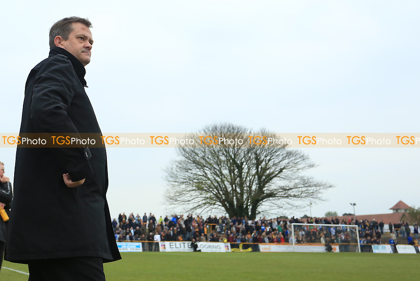 Merstham Manager Hayden Bird during Folkestone Invicta vs Merstham, Ryman League Division 1 South Play-Off Final Football at Cheriton Road Sports Ground on 2nd May 2015